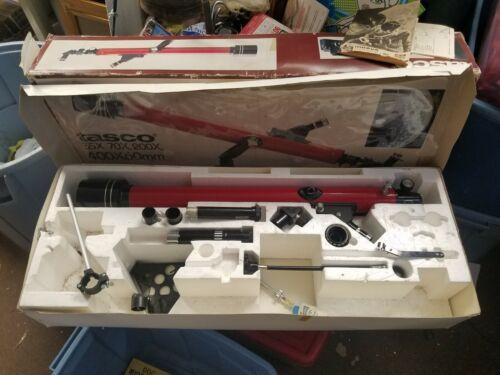 Vintage TASCO 9F 400X60mm Telescope in Original Box