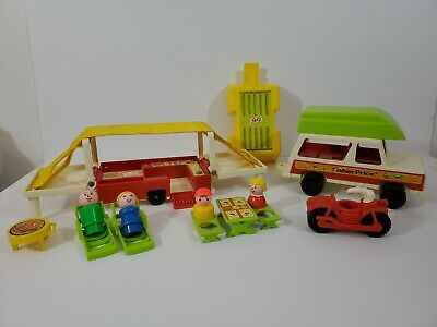 Vintage Fisher Price Little People #992 Pop-Up Camper Complete, #2