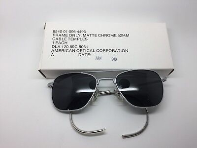 1989 American Optical Corporation Aviator Sunglasses Matte Chrome Frame (Corporate Sunglasses)