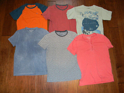 ABERCROMBIE & FITCH HOLLISTER MEN'S LOT OF 6 MUSCLE T-SHIRTS SZ SMALL S!