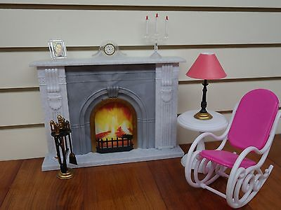 Gloria,Barbie Doll House Furniture/(96006) Fire Place Play Set