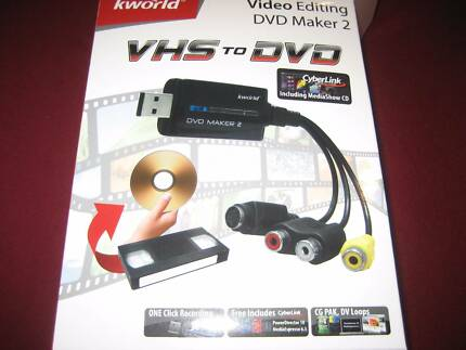 VHS to DVD CONVERTER KWORLD....BURNS video files to DVD/VCD/SVCD