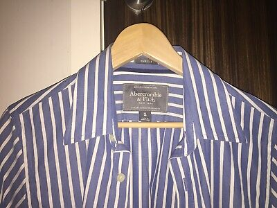 Mens Abercrombie and Fitch Shirt - Small  Brand New With Tags Blue White Stripes