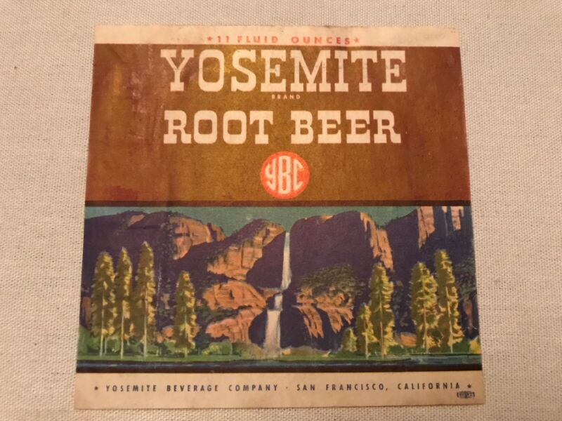 Yosemite Root Beer Vintage Label, Yosemite Beverage, San Francisco, California