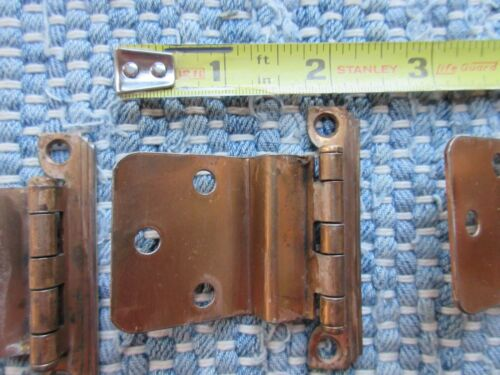 Lot of 29 VTG Cabinet Door Hinges w/ Copper Finish and Screws
