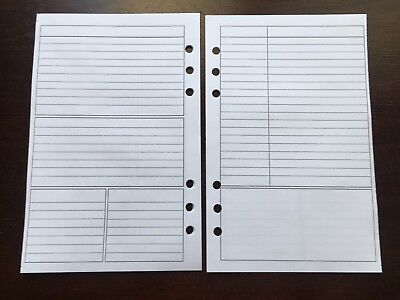NOTES Undated Refill for A5 6-Ring Planner Organizer Insert (fits Filofax) 6-ring-planner Refill