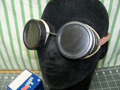 Vtg New Sellstrom Welding Goggles Green Lens Tint 500 Lea-5 Usa Nos Steampunk