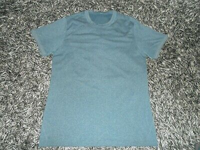 Lululemon Men's L/Large Metal Vent Tech Blue Green Short Sleeve Shirt