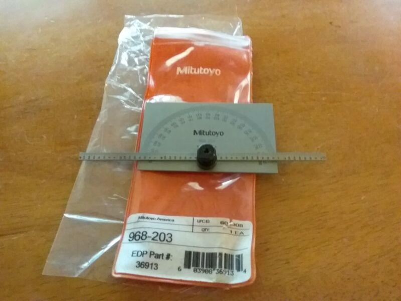 MITUTOYO Steel Protractor,Rectangular,6 In,1/64 Grad, 968-203