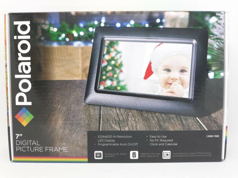 "Polaroid Digital Photo Frame 7"" Screen PDF-700 Black"