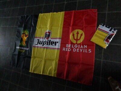 Jupiler vlag reclame beer sign flag fahne drapeau Belgium world cup Brasil new b