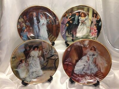American Brides Plate (Portraits of American Brides First Issue Collector Plates Lot of 4)