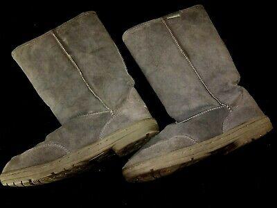 BEAR PAW dark gray WINTER SNOW BOOTS womens size 11 fleece lined SO WARM @@