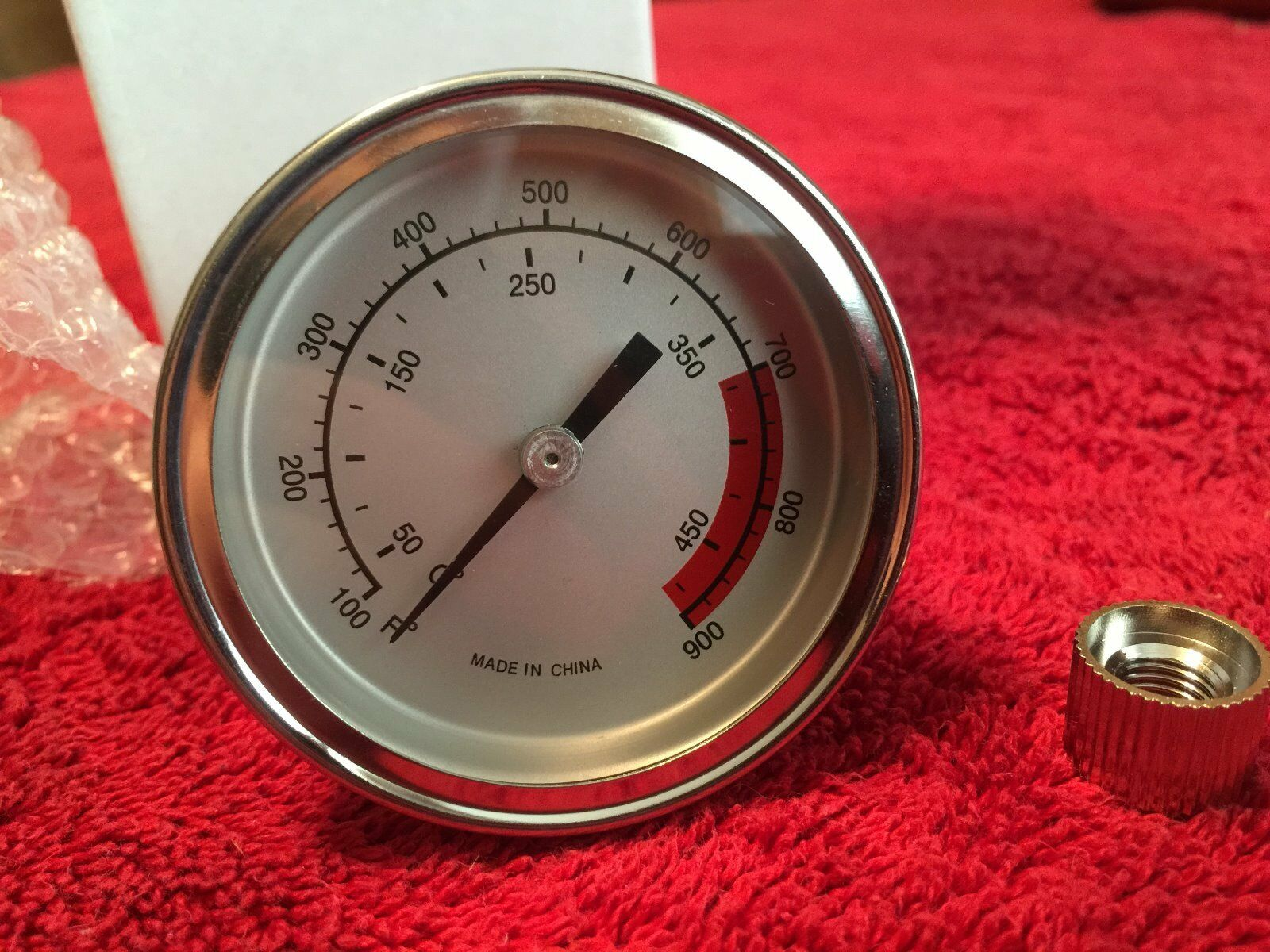 "2 1/2"" BBQ SMOKER- TRAEGER GRILL THERMOMETER TEMP GAUGE 100-"