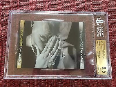 2007 Best of Tupac Shakur 2PAC Thug Life 3D Lenticular Promo Card BGS 9.5 Graded