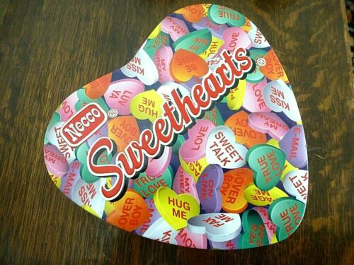 Vintage/older Necco Sweetheart Candy HEART TIN Valentines Day Tin