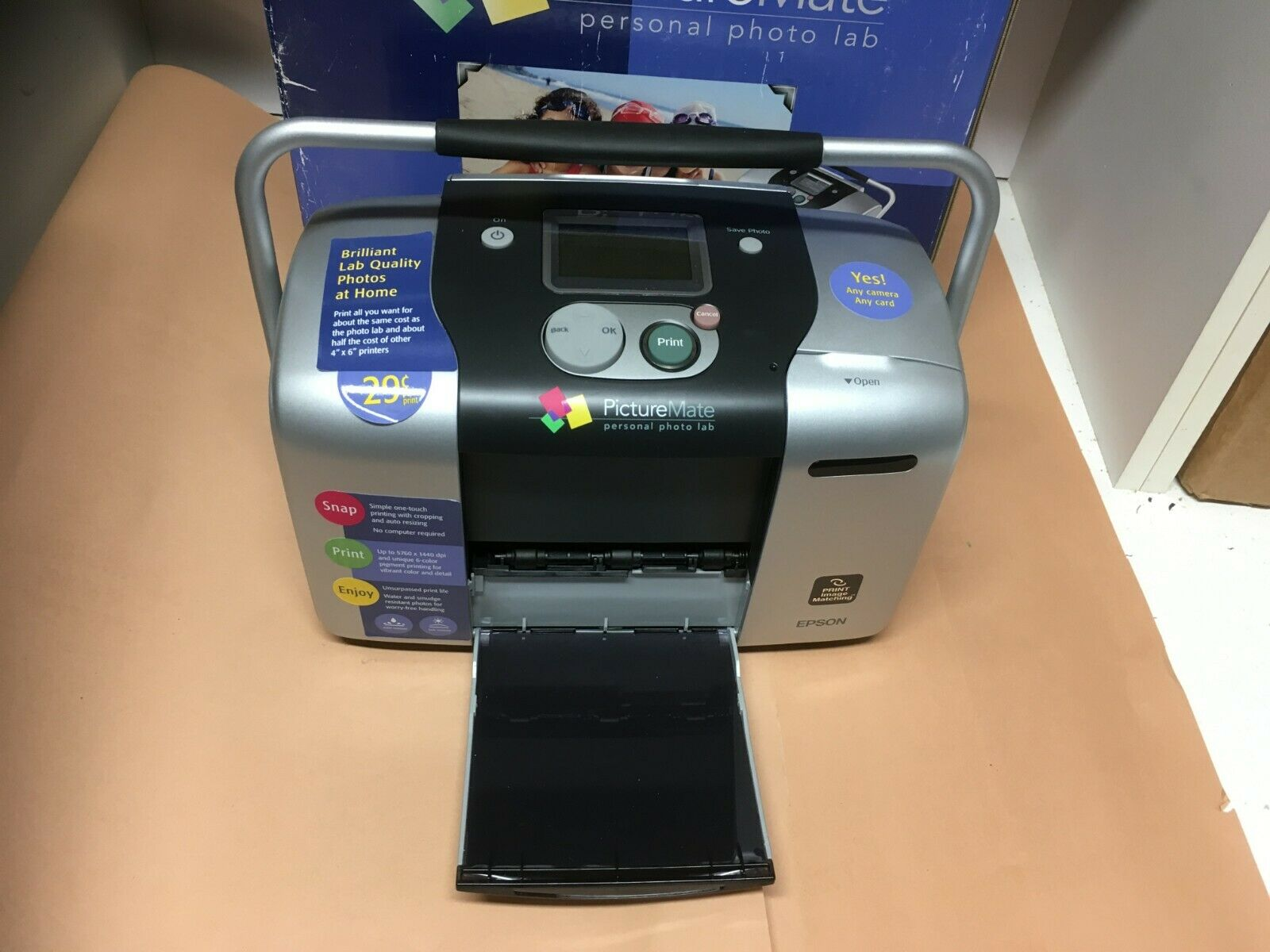 EPSON PICTUREMATE PORTABLE INK JET PRINTER IN BOX, B271 WITH