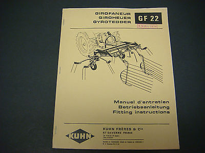 (Kuhn Manual Gyrotedder GF 22 Fitting Instructions in English No.2.69)