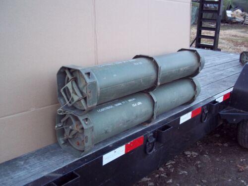 2 TUBES.....MILITARY SURPLUS 120MM AMMO TUBE GUNS AMO RIFLE MONEY VALUABLES ARMY