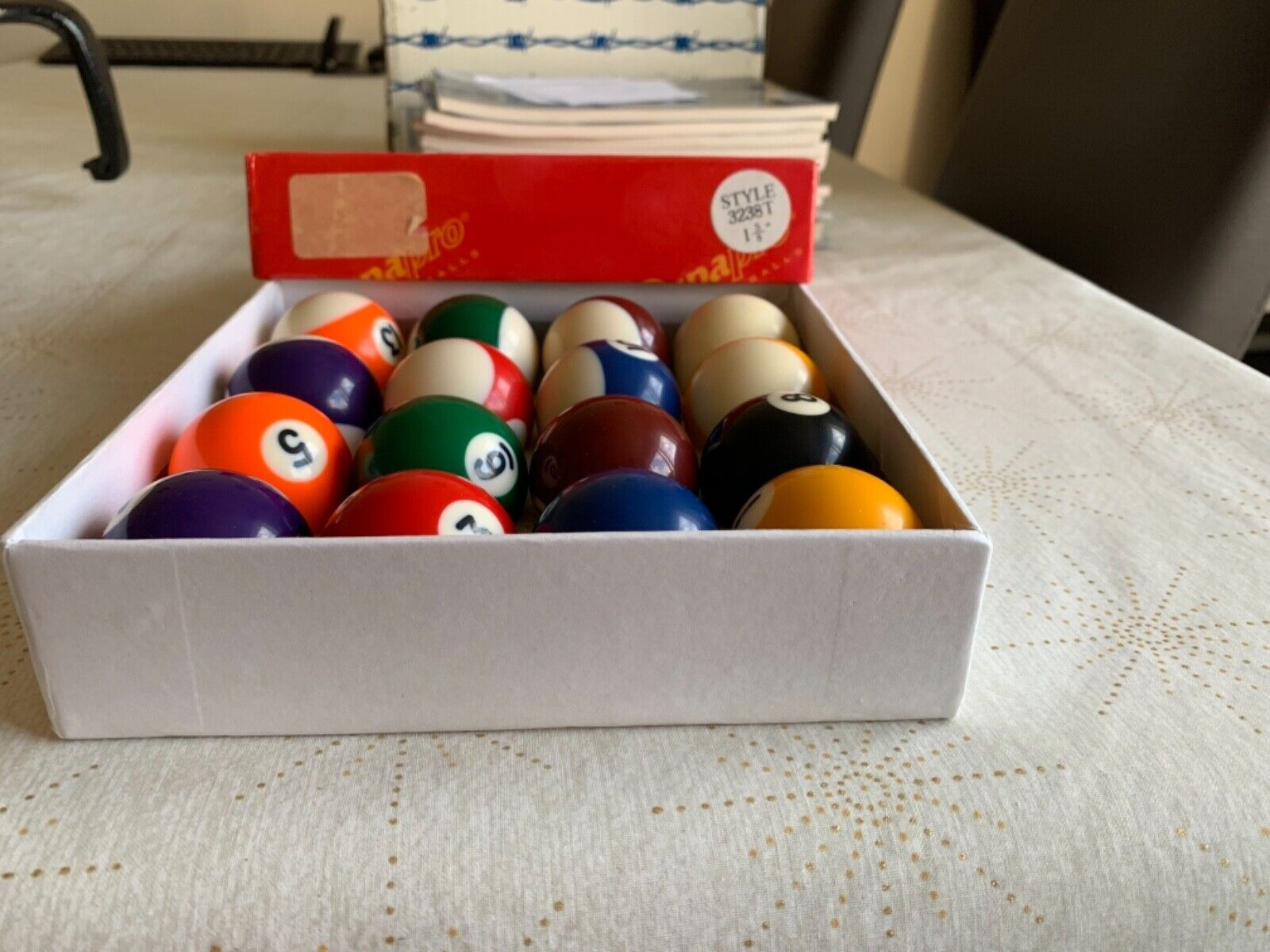 Pool Balls Supapro - Style 3238T - 1 5/8 inch (1