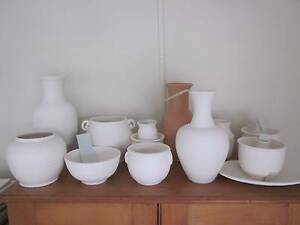 Bisqueware pottery - ready for glazing - 21 pots/pieces Kenmore Brisbane North West Preview
