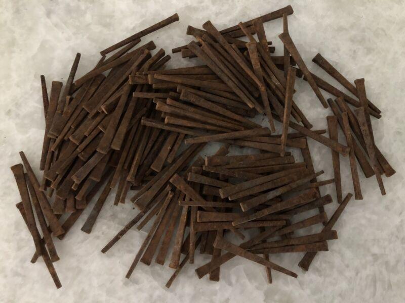 "Antique Primitive 3"" Square Cut Rustic Nails ~ Lot Of 50"