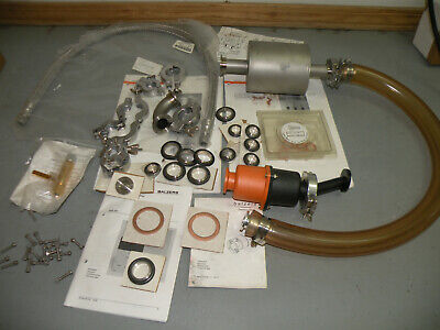 Accessories For Balzers High Vacuum Pump Centering Rings Clamps Tubing Trap