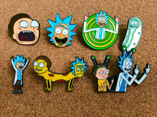 SET OF 7 Rick and Morty Brand New High Quality Enamel Pins