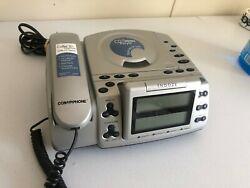 Conair Phone CID500 Alarm Clock Landline Phone CD Player Combo Caller ID Screen