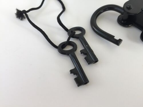 Iron Lock & Keys ~ Old Vintage Antique 1800s Style ~ Police Jailer Padlock