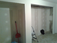 Drywall repair and painting services