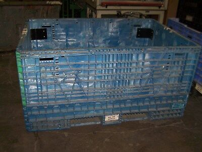 48x70x34 Braced Plastic Collaspable Stackable Folding Gaylord Shipping Crates