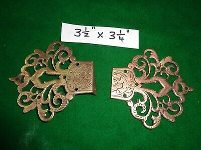 TWO CHINESE INFLUENCE KEYHOLE FRET DECORATIVE COVERS