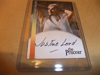 JUSTINE LORD JL1 AUTOGRAPH CARD THE PRISONER PATRICK McGOOHAN UNSTOPPABLE