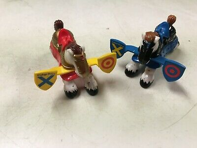 FISHER PRICE GREAT ADVENTURES CASTLE PLAYSET  JOUSTING HORSES  RED  & BLUE  EUC