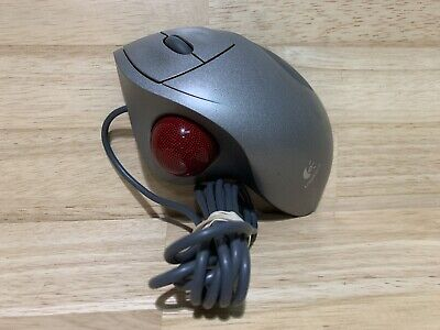 Logitech TrackMan Wheel T-BB18 804380-1000 Optical Trackball Mouse Silver tested