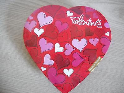 VALENTINE 5 PIECE CANDY HEART BOX EMPTY, ELMER CHOCOLATE, JEWELRY, CHANGE