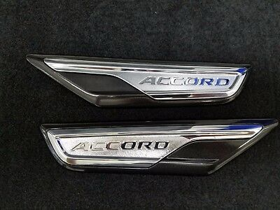 NEW GENUINE HONDA 2018 2019 ACCORD BLACK FENDER EMBLEM SET 08F59-TVA-110
