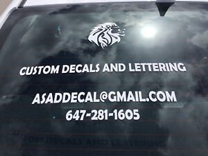 Custom Decals And Lettering