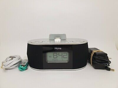iHome iDN38 Dual Alarm Clock Radio USB for iPhone/iPad/iPod Used