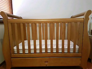 Boori Sleigh Cot with mattress Regents Park Auburn Area Preview