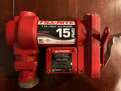 Fill-rite Fr610g Cast Iron 115v Ac Fuel Transfer Pump 15 Gpm