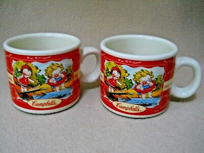 2 Vintage 1998 Campbell's Kids Spring /Summer 8 oz Soup Coffee Mugs/Advertising