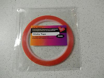 "Rolle doppelseitiges Klebeband ""Sticky Tape"" 3mm x 10mtr"