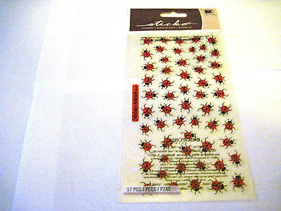 Ladybug Stickers (Scrapbooking Stickers Sticko Ladybugs Lady Bugs Mini Repeats Small Red)