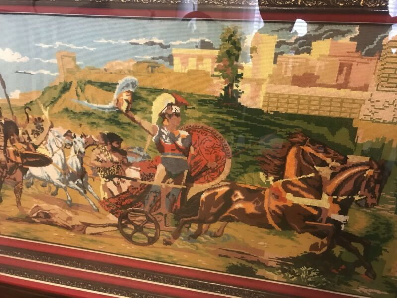 Greek Tapestry with intricate framing | Art | Gumtree Australia ...