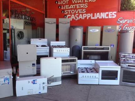 Appliance Sales ,seconds recycled  heaters, stoves, hot water