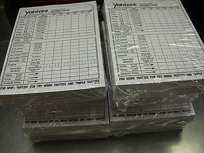 Lowest Price     Yahtzee Score Pads Cards  2000 Sheets Yahtzee Game