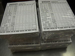 LOWEST PRICE!!!! YAHTZEE SCORE PADS CARDS  2000 SHEETS YAHTZEE GAME