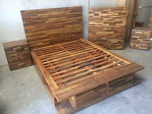 SOLID TIMBER BED WITH STORAGE Redland Bay Redland Area Preview